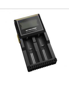 Novo Nitecore D2 D2 Carregador de Bateria LCD Display Nitecore carregador para 26650 18650 18350 16340 14500 10440